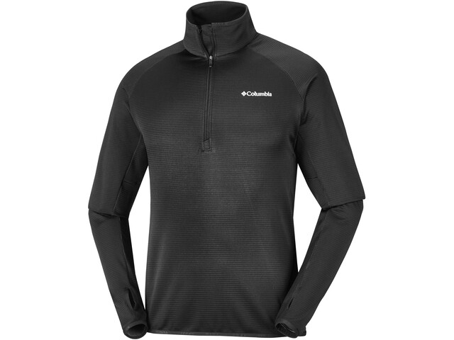 Columbia Mount Powder Fleece m. 1/2 lynlås Herrer, black